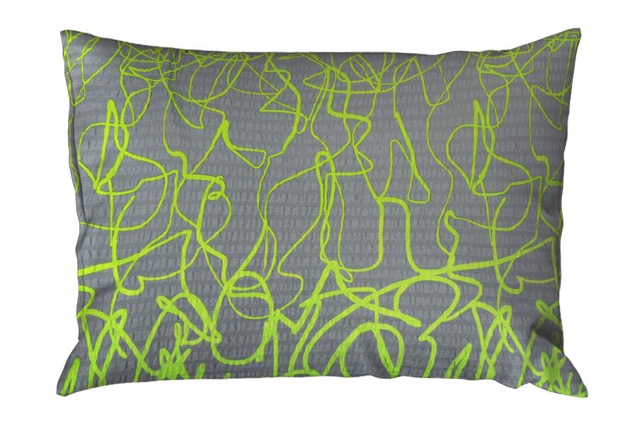 Seersucker Kissenbezug 70x90 cm DISELA Limette