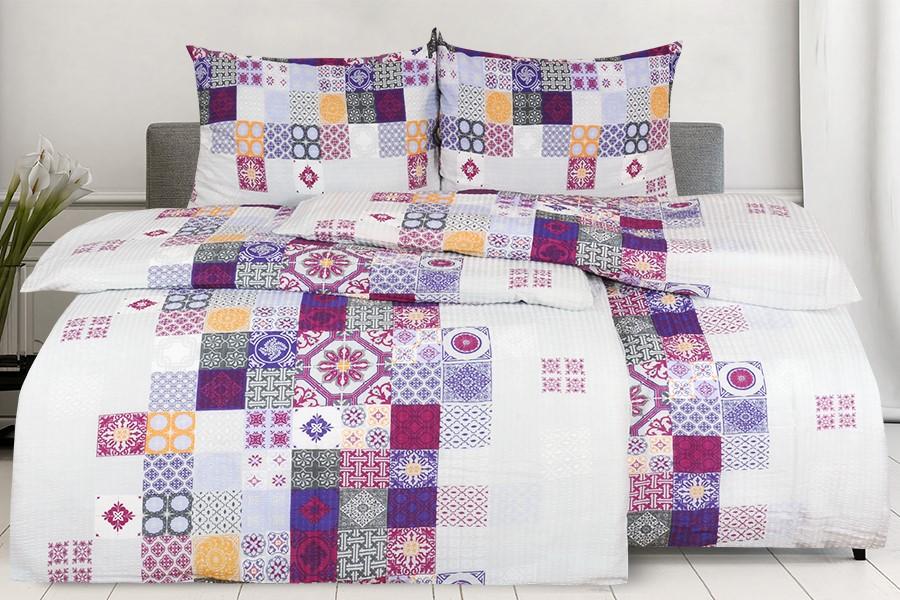 Bettwäsche Seersucker MANSIRA violett