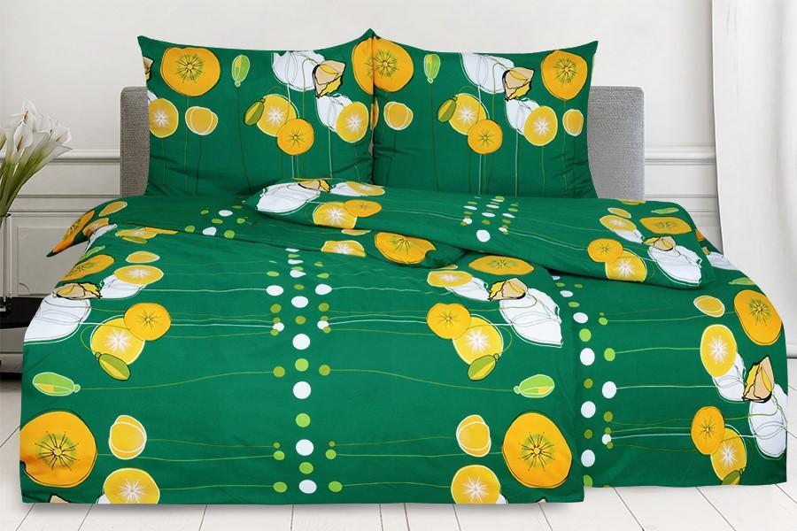 Bettwäsche aus Mikrofaser mit Baumwolleffekt ANAPOLA grün
