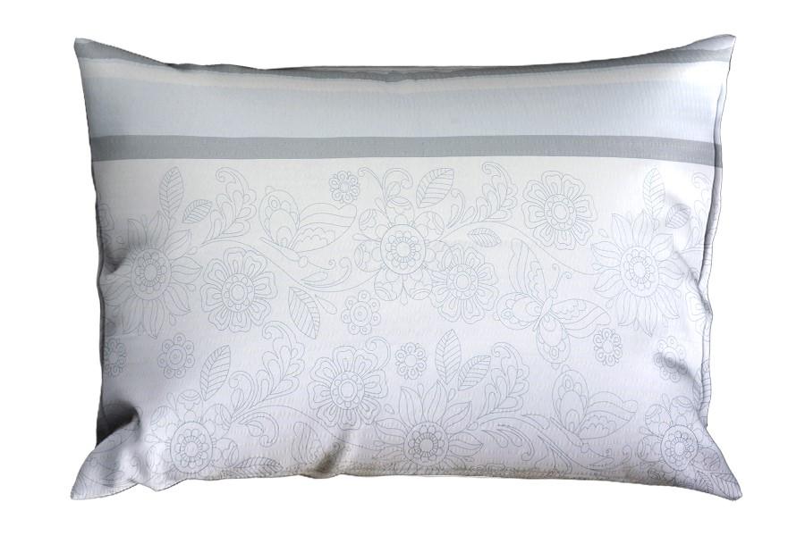 Seersucker Kissenbezug RENFORCÉ 70x90 cm MORELA grau