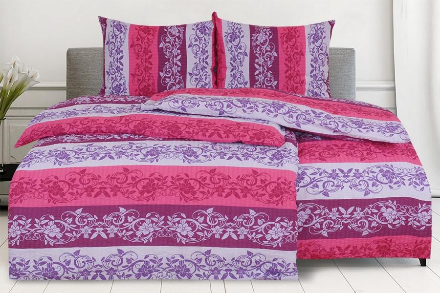 Bettwäsche Seersucker in Übergröße LANILA violett