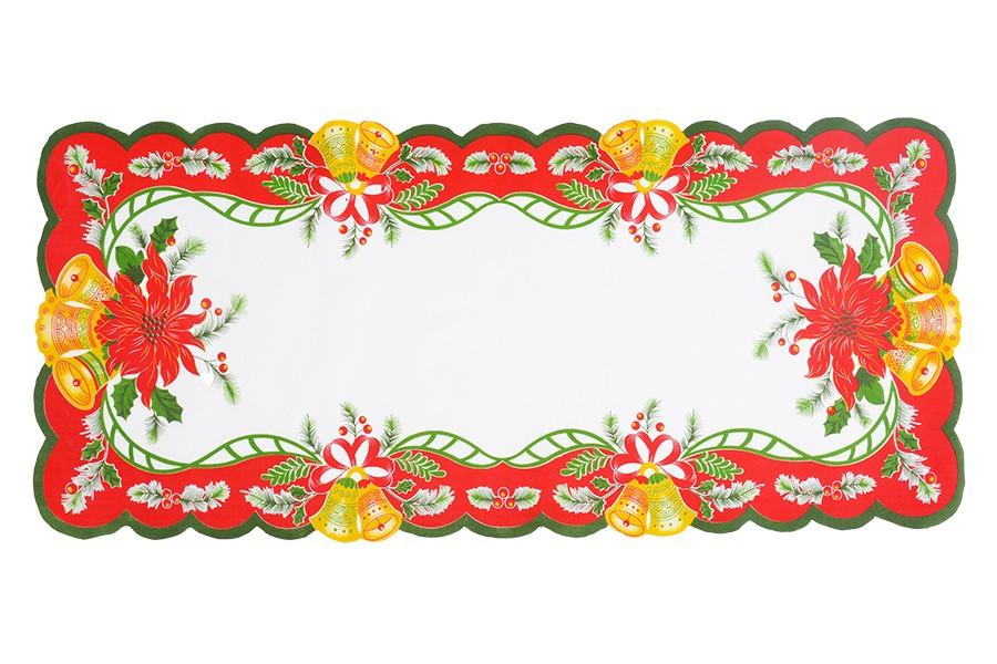 Weihnachtstischdecke GLOCKEN 38x85 cm