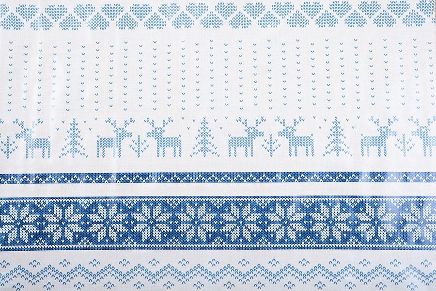 PVC-Tischdecke NORDIC Blau 140x160 cm
