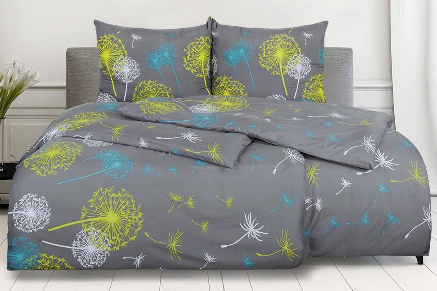 Bettwäsche aus Mikrofaser mit Baumwolleffekt MALERA Grau