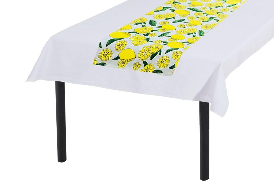 Tischläufer 30x140 cm ZITRONE