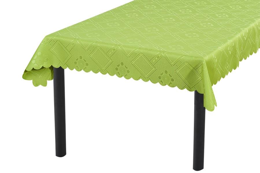 Jacquard-Tischdecke KUBE grün 90x90 cm