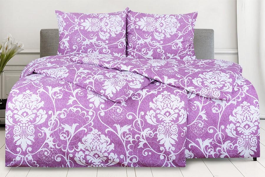 Baumwollbettwäsche BASIC 4tlg. LEVANZA violet