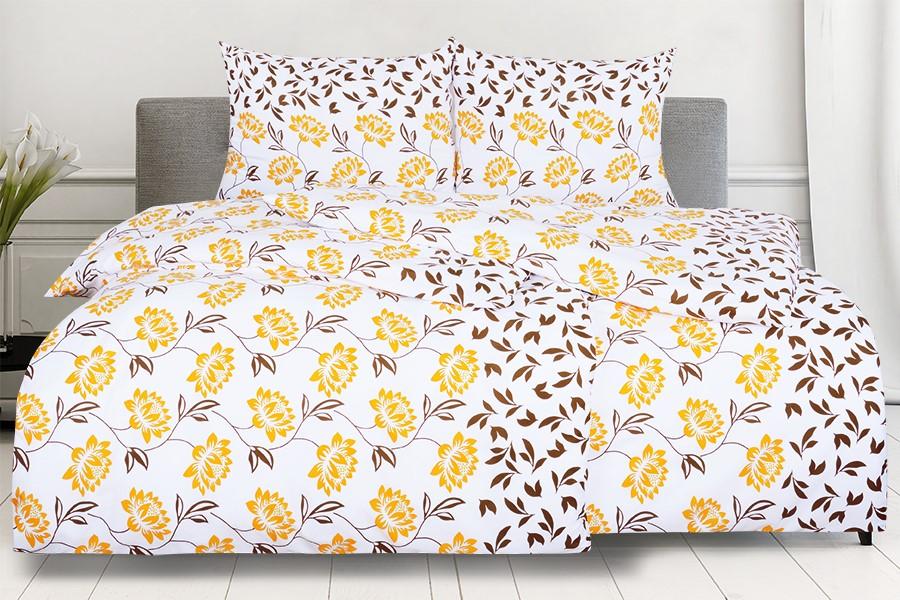 Bettwäsche aus Mikrofaser mit Baumwolleffekt ROSANA orange