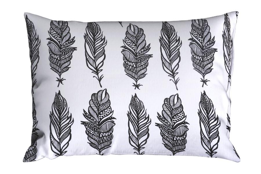 Seersucker Kissenbezug 70x90 cm PIERA schwarz-weißer