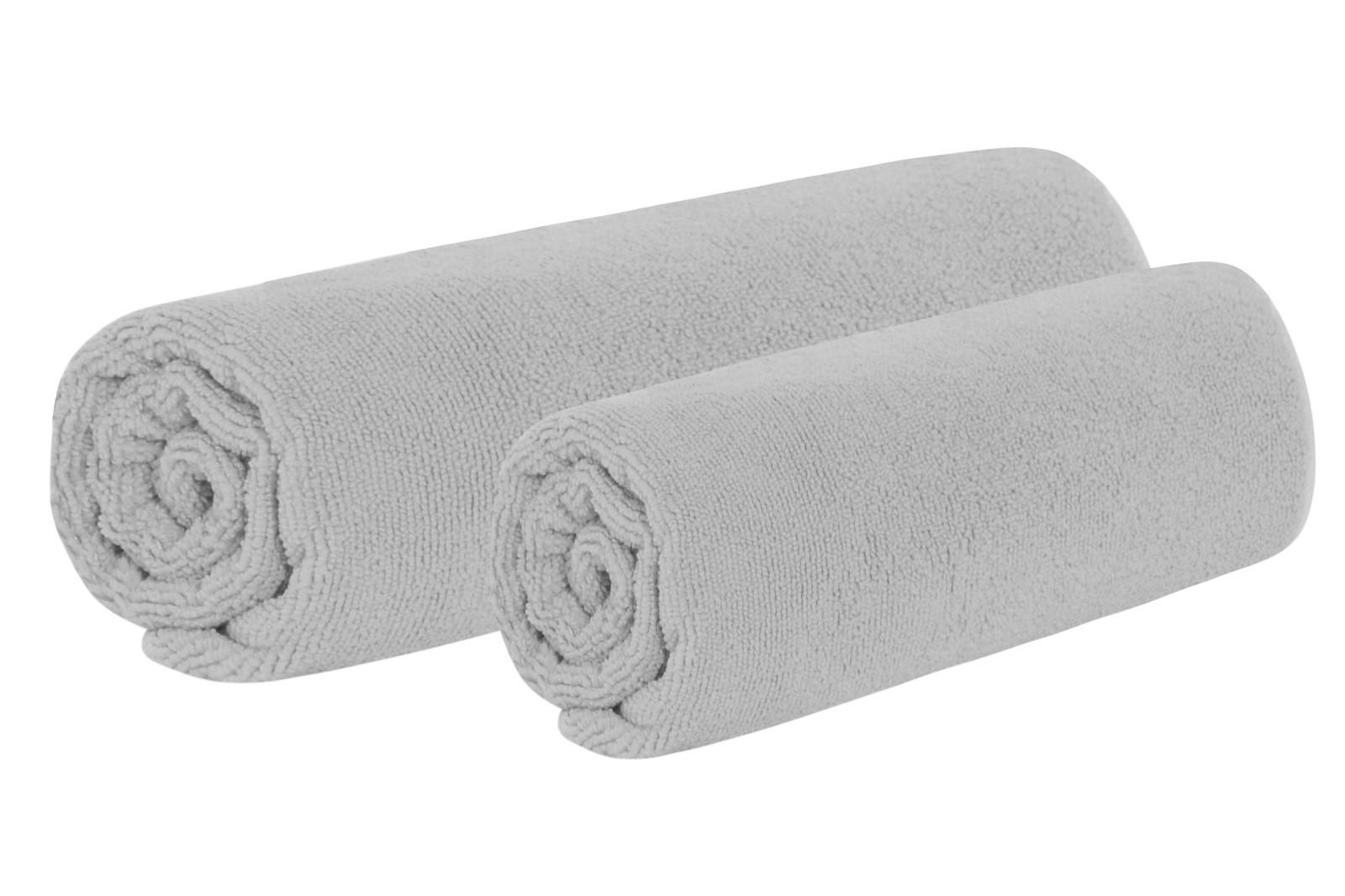 Set Handtuch und Badetuch TOP hellgrau