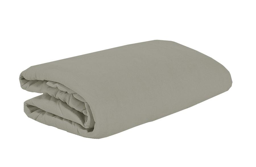 TOP Q Jersey Bettlaken Für eine höhere Matratze geeignet GRAU 90x200 cm
