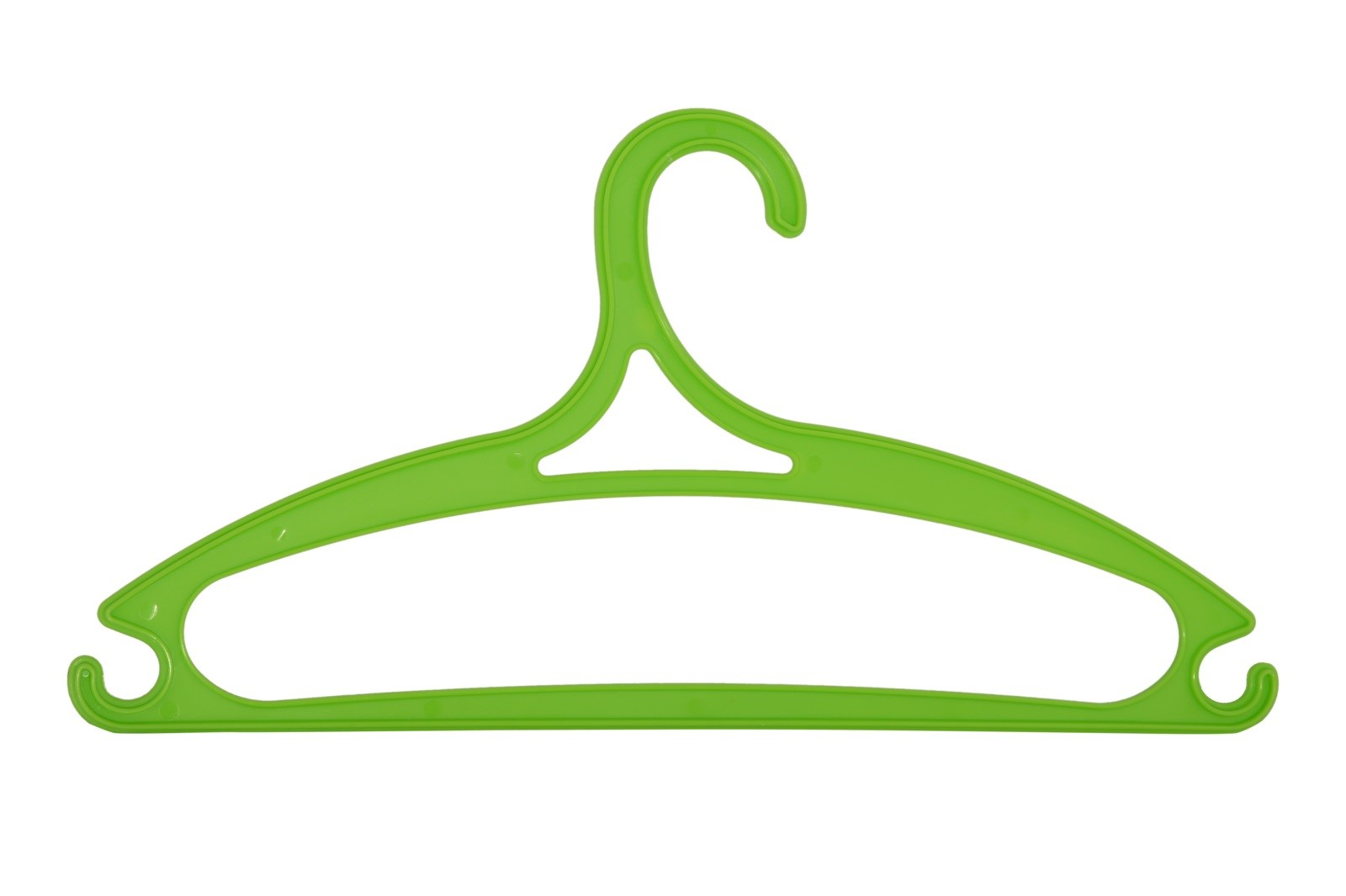 Kunststoffkleiderbügel 5 Stk. grün