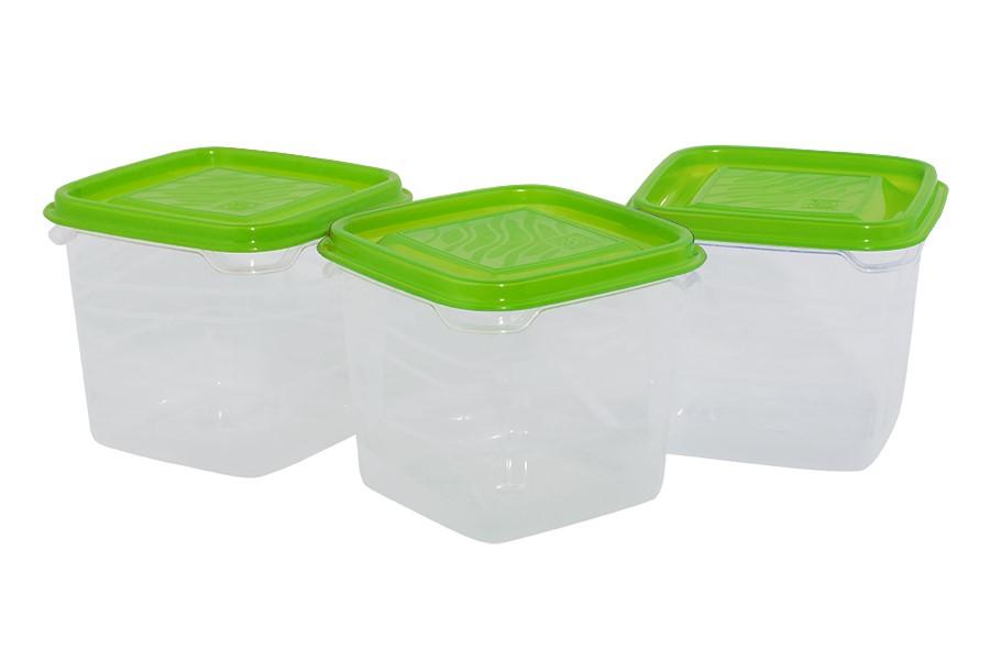 Kunststoffdosen-Set 3 Stk. grün