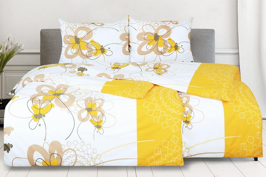 Bettwäsche aus Mikrofaser mit Baumwolleffekt 4tlg. ENEGA Gold