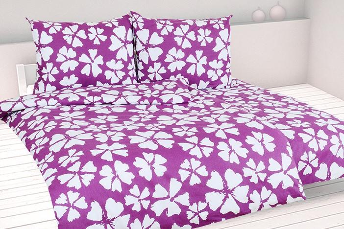 Bettwäsche Baumwolle in Übergröße WALIKA violett