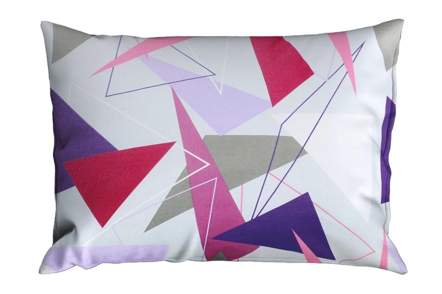 Kissenbezug Baumwolle RENFORCÉ 70x90 cm ARINA himbeere