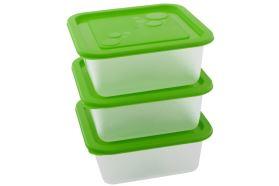 Kunststoffdosen-Set KUBE 0,55 l 3 Stk. grün
